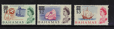 Bahamas 242-244 Mint H 1966 Surcharges $1-$3 High Values $22