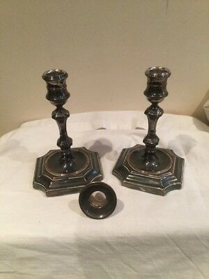 Pair Of Plated Candlesticks