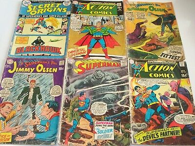 SIX Superman related titles! Superman 216, Action 378, 385 Jimmy Olsen 115, 123+