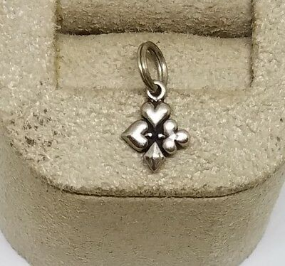 """Vintage Sterling Silver Playing Card Suits Heart Diamond Club Spade Charm  5/16"""""""
