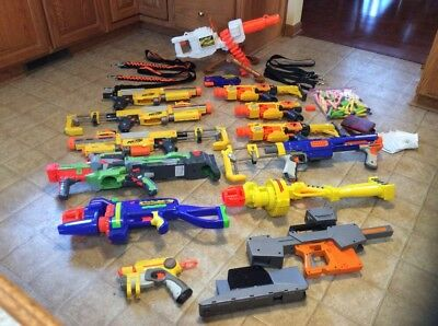 HUGE LOT 100+ NERF Buzz BEE Motorized Auto Gun 20 RV-10 CS-6 CS-35 Nitron Ammo