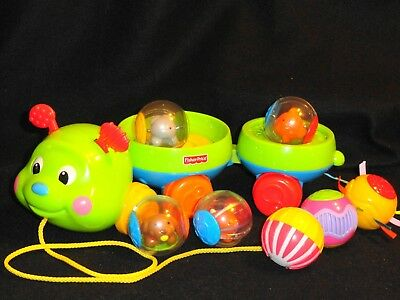 Fisher-Price - Roll-A-Rounds: - Pull-Along Caterpillar & Roll-A-Rounds