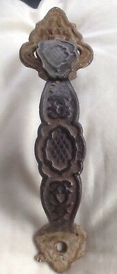Antique Eastlake Victorian Fancy Cast Iron Thumb Latch & Handle For Gate Door