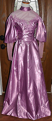 Vintage Mauve Downton Abbey Ball Gown & Shawl (Costume & Theater Gown)