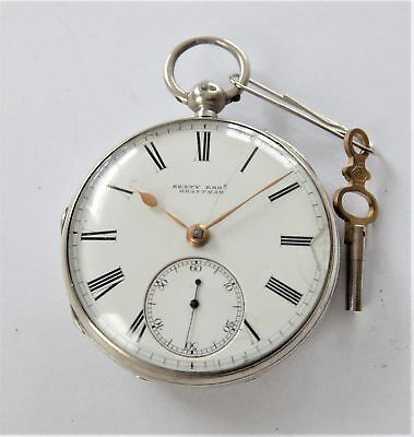 1869 Silver Cased Fully Jewelled Fusee Pocket Watch Sexty Bros Grantham Working