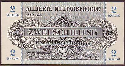 Austria  Allied Military Currency  2 Shilling  1944    UNC