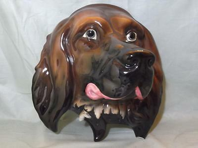 Beswick Red Setter Dog Head Wall Plaque No.668 A/F