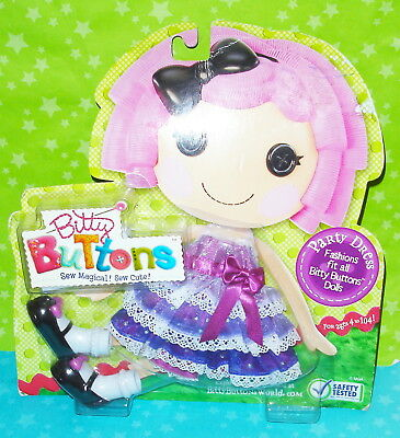 Vhtf Lalaloopsy Full Size Doll Bitty Buttons Party Dress Fashion Pack Outfit