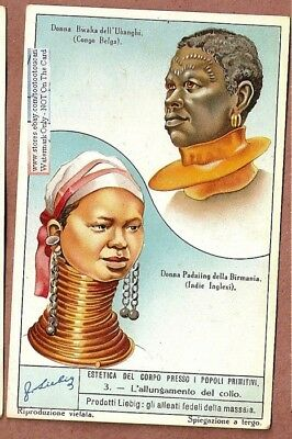 Neck Stretching In African And India  BIZARRE 75 Y/O Trade Ad Card