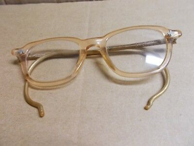 BAUSCH LOMB vintage SAFETY GLASSES used G+ to VG brownish frame needs cleaning