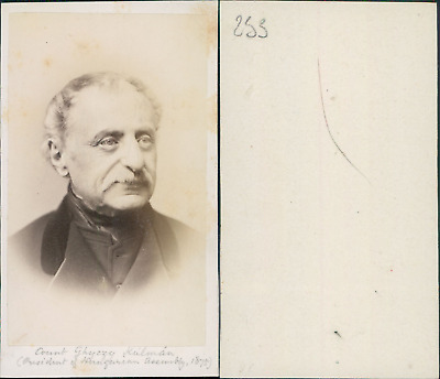 Count Ghyczy Kulman, president of Hungarian Assembly 1875 vintage CDV albumen ca