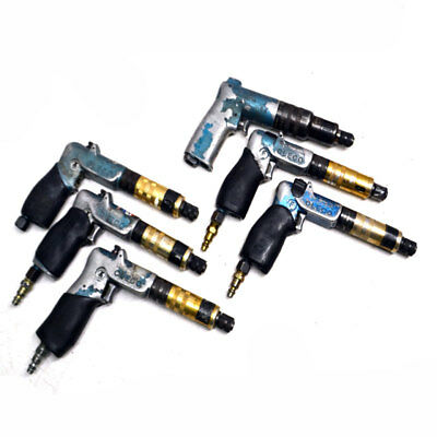 """(6) Cleco Various Pneumatic Pistol Grip 1/4"""" Air Screwdrivers/Nutrunners (AS/IS)"""