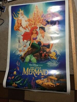 "Style D The Little Mermaid 1989 Vintage Movie Poster 36"" x24"""
