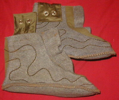 Original WWII USAAF Inserts for Electrically heated Shoes - part of Flying Suit