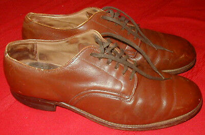 Original WWII U.S. Army Officer Low Quarter Shoes Used - size 8 1/2 D