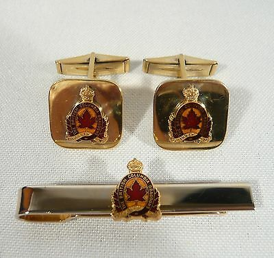 BC DRAGOONS Sterling Silver Cufflinks WWII 5th Canadian Armoured Division