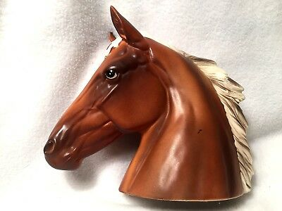 Vintage Desk Top Norcrest Japan Horse Head With Blaze On Forehead
