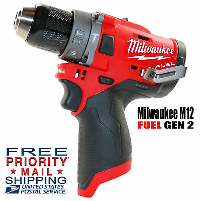 """NEW Milwaukee M12 FUEL Brushless 1/2"""" HAMMER Drill-Driver 2504-20 GEN2 Bare Tool"""