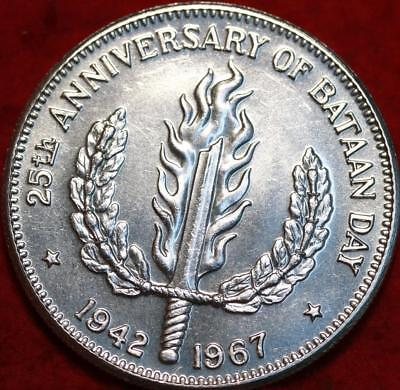 Uncirculated 1967 Philippines 1 Peso Silver Foreign Coin