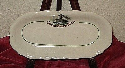 CAPTAIN SHREVE HOTEL PICKLE DISH 1950 era Shreveport La Syracuse China
