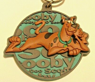 2 Vintage Scooby Doo Rubber Keychains 1998