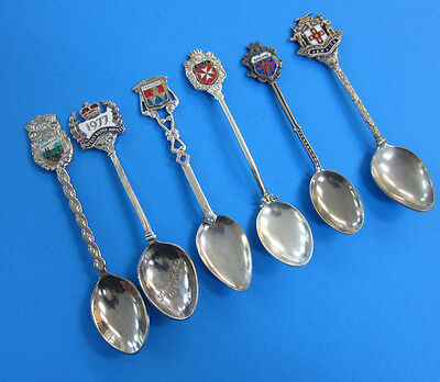 6 Silver Plated Souvenir Spoon -- Free Shipping *