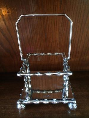 Antique Walker & Hall Silver Plated Stand For Pickle Preserve Jar Or Dish