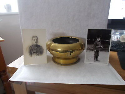 Good World War 1 Trench Art Brass Flower Bowl.marked & Dated 1915.very Tactile