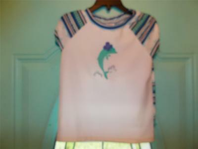 Gymboree Girl's Sunscreen Swimwear Rash Guard Shirt Size 6 NWT