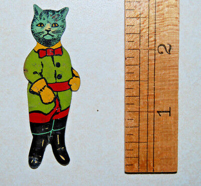 Cracker Jack Premium flat tin toy prize PUSS IN BOOTS Cat / Kitten