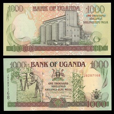 UGANDA 1000 One Thousand Shillings 1998 Uncirculated Banknote