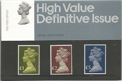 GB QE2 1977 HIGH VALUE DEFINITIVES PRESENTION PACK No 91