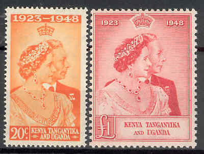 KENYA UGANDA TANGANYIKA.1948 Silver Wedding. Fresh u.m. MNH. SEE ITEM SPECIFICS