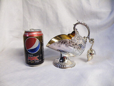 Vintage Highlands Silver Plated Coal Scuttle & Scoop Sugar Bowl . Beautiful.