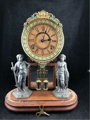 Antique Ansonia Crystal Palace Clock In Working Order