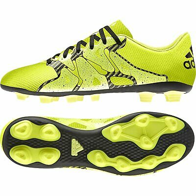 adidas Men's X 15.4 FXG Firm Ground FG Football Boots Moulded Studs Yellow Black