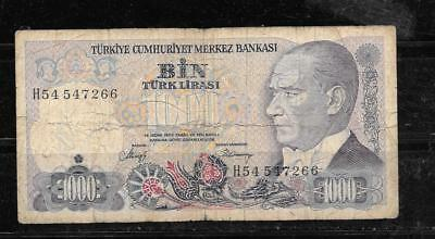 Turkey #196 1986 1000 Lira Very Good Circulated Old Banknote Note Paper Money