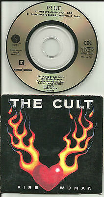 THE CULT Fire Woman LIMITED w/RARE EDIT 3 INCH CD single 1989 USA w/SLEEVE 27543