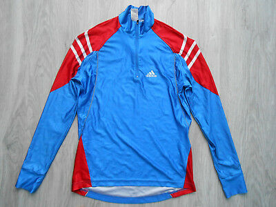 Adidas Norway Norge zip neck pro long sleeve layer top jersey shirt