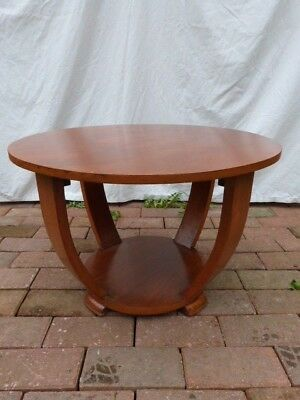 Lovely Vintage Art Deco Two Tier Wooden Side/occasional/coffee Round Table.