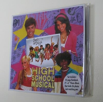 High School Musical Photo Album With Notebook And Pen