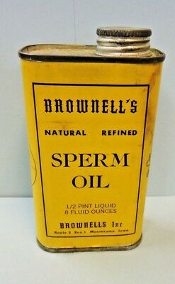 Brownell's  Natural Refined Sperm Oil 1/2 Pint Pre Ban Unopened