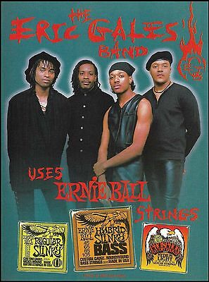 The Eric Gales Band 1994 Ernie Ball Guitar Strings ad 8 x 11 advertisement