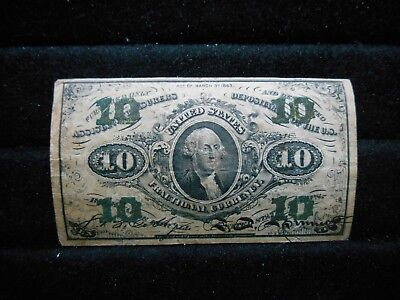 Very Nice Circulated 10c Fractional Currency Third Issue Act of March 3rd 1863
