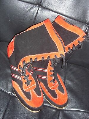 BNWOT Red & Black Martial arts or weightlifting Boots from M.A.R International.