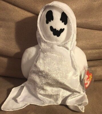 SHEETS Halloween Ghost Original Ty Beanie Baby NEW with Tag 1999 Plush Toy Bin A