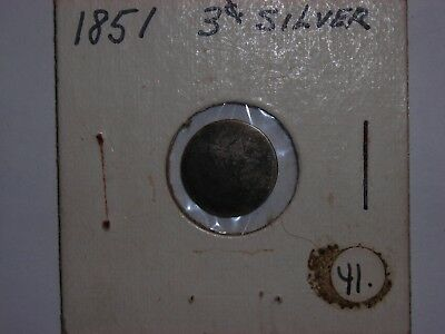 1851-1853 3 CENT PIECE, Three Cent Silver NO DATE