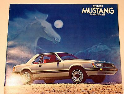 1979 FORD MUSTANG Color Brochure DEALER Sales FMC Motor Company SPORT Cars AUTO