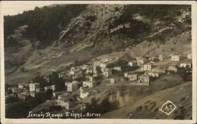 Aigio Aegion Greece Homes c1930 Real Photo Postcard