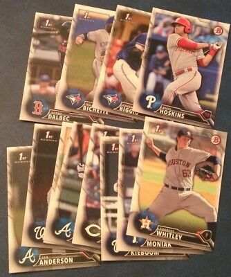 2016 Bowman Draft Paper Base Prospects (A through Z) You Pick From List